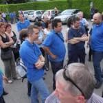 sciopero operai svizzeri in Ticino contro gli italiani «low cost»